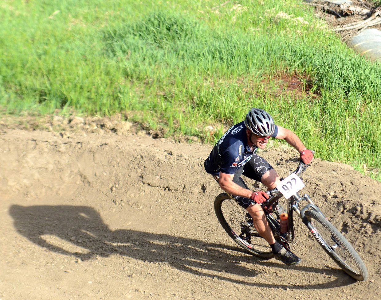 Dan Vargas rides Wednesday in the Town Challenge Mountain Bike series in Steamboat Springs.