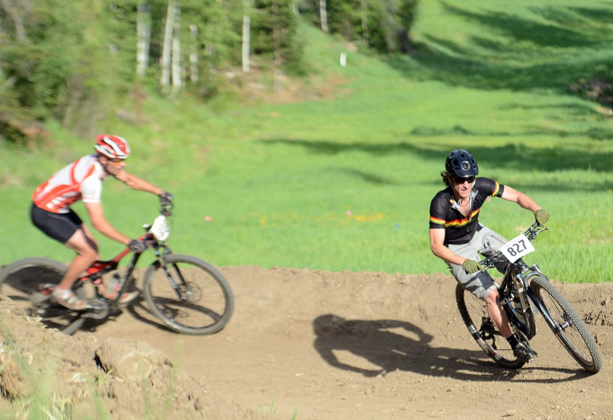 Braden Wilson rides Wednesday in the Town Challenge Mountain Bike series in Steamboat Springs.