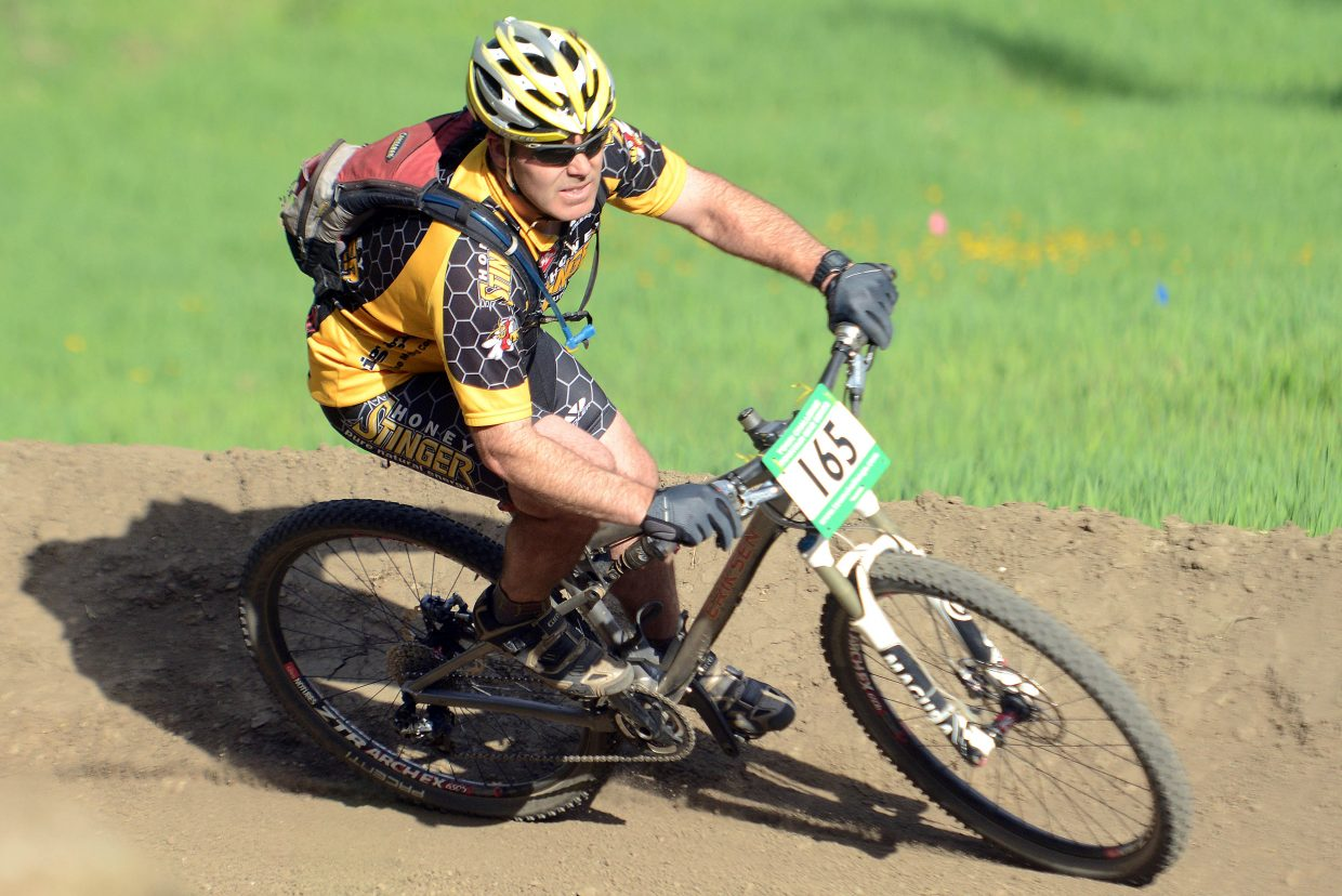 Kevin Hendrickson rides Wednesday in the Town Challenge Mountain Bike series in Steamboat Springs.