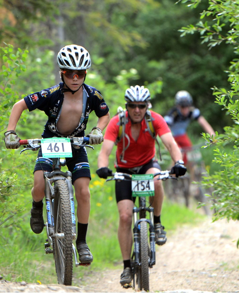 Chase Seymour rides Wednesday in the Town Challenge Mountain Bike series in Steamboat Springs.
