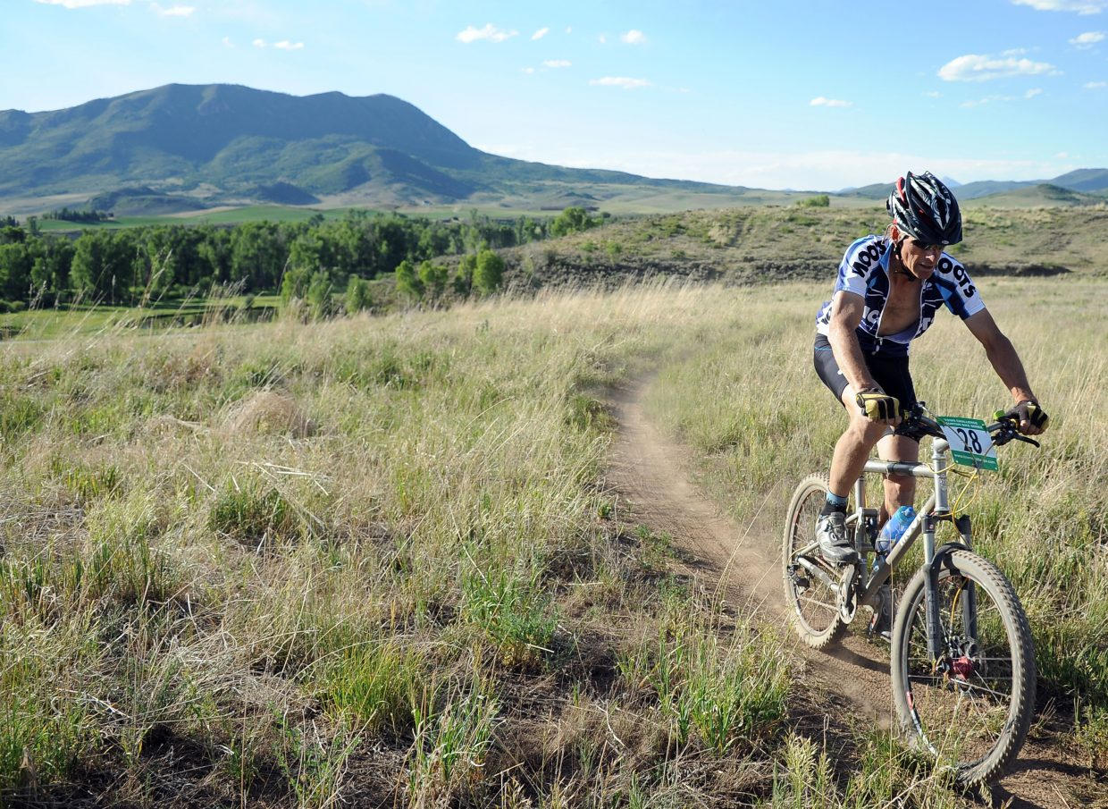 Marc Sehler rides in the Town Challenge race at Marabou Ranch.
