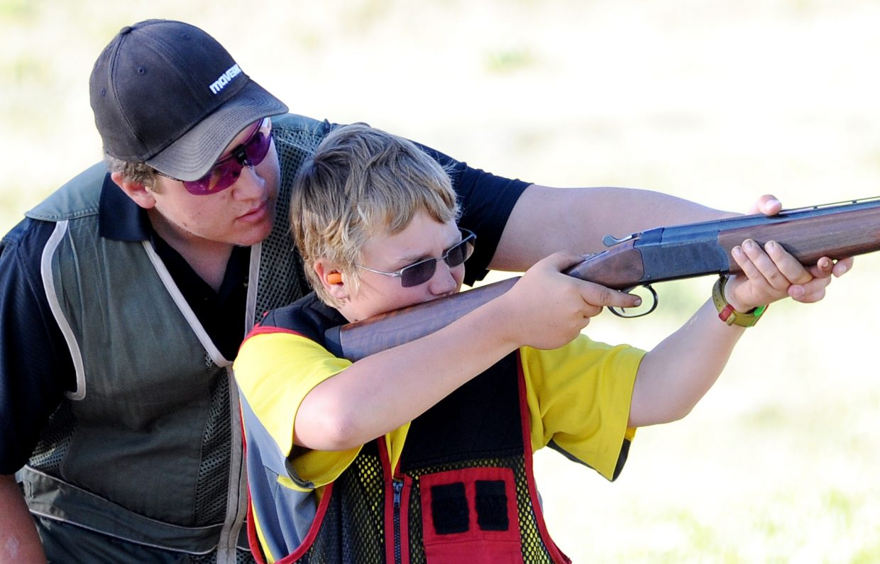 About 16 Routt County youths participate in the 4-H shotgun club.