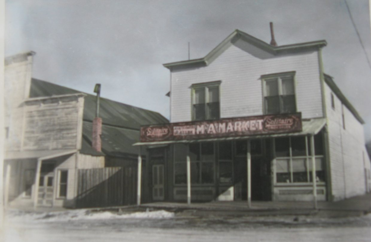 This 1930s photo shows Crossan's Market after it was purchased by the Mongomery family in 1935. It later was sold to Robert Crossan and then repurchased by Joe Mongtomery in 1964, when the store closed and was turned into a storage space.