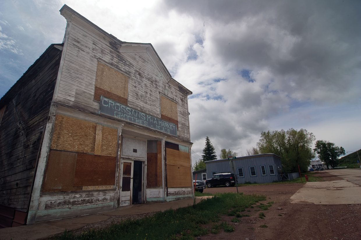 Most people in Yampa realize that the Crossan's Market building, which was built in 1903 and operated as a market until 1964, has seen better days. The Friends of Crossan's are a group of Yampa residents who are working to restore the building.