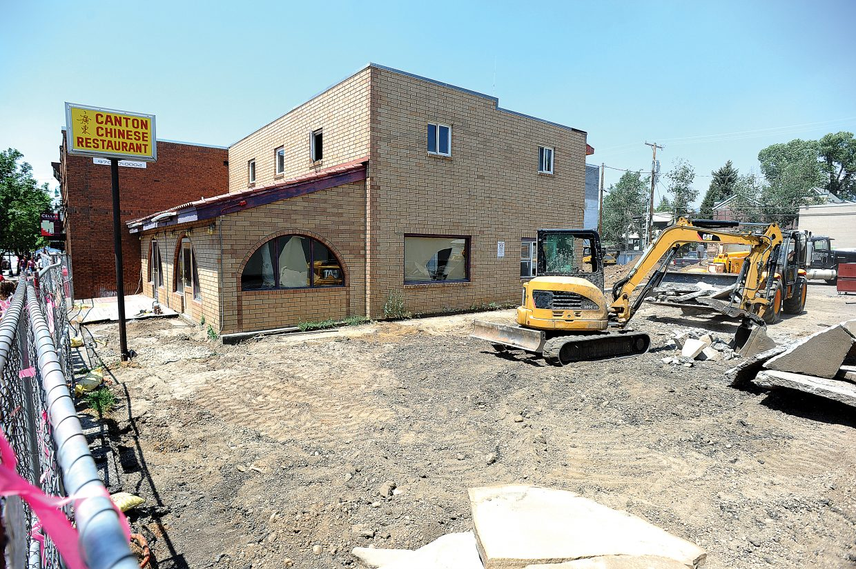 The building at 720 Lincoln Avenue in Steamboat Springs, the former site of the Canton Chinese Restaurant, is currently undergoing major renovations in preparation for a new business.
