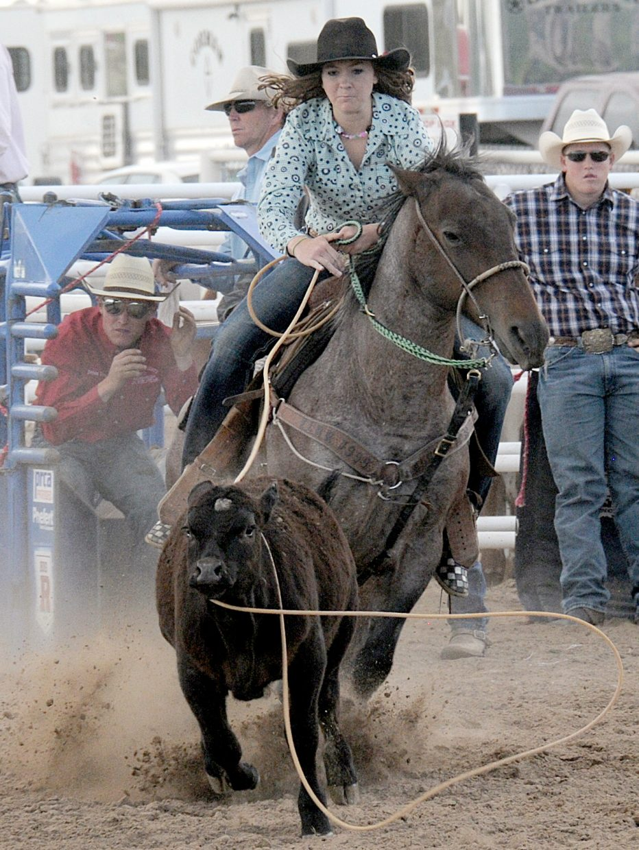 Jacey Schlegel won the breakaway roping champion at the Colorado State High School Rodeo Finals.