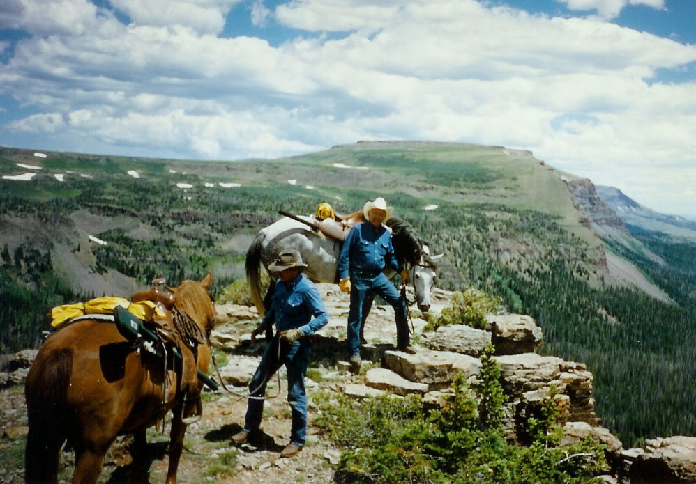 Bill Meek lived in South Routt for about 40 years. He raised horses and often went on fishing trips on horseback.