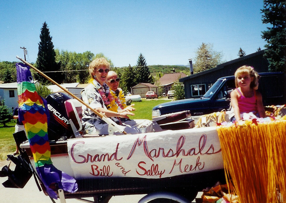Bill Meek, pictured here with his wife, Sally during a parade, was active in the Soutth Routt community, serving as a deacon at the Yampa Bible Church and volunteering as an EMT.