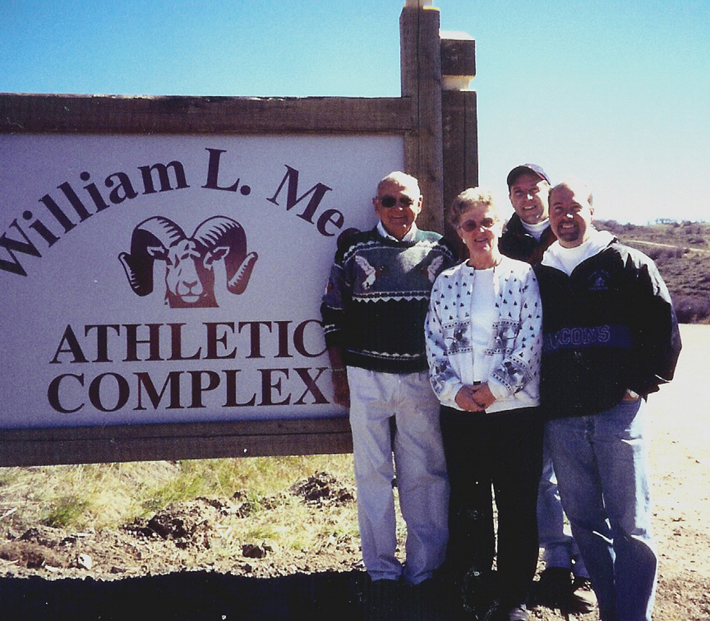 The William L. Meek athletic complex was named after Bill Meek in 2002 to recognize his 30 years of service to the school district. Meek retired from the district in 1994.