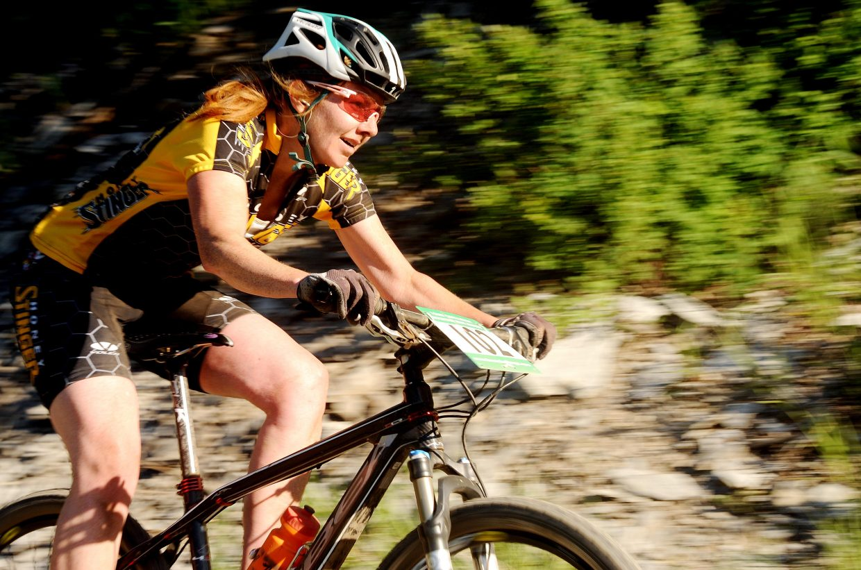 Bec Bale rides Wednesday in a Town Challenge race at Marabou.