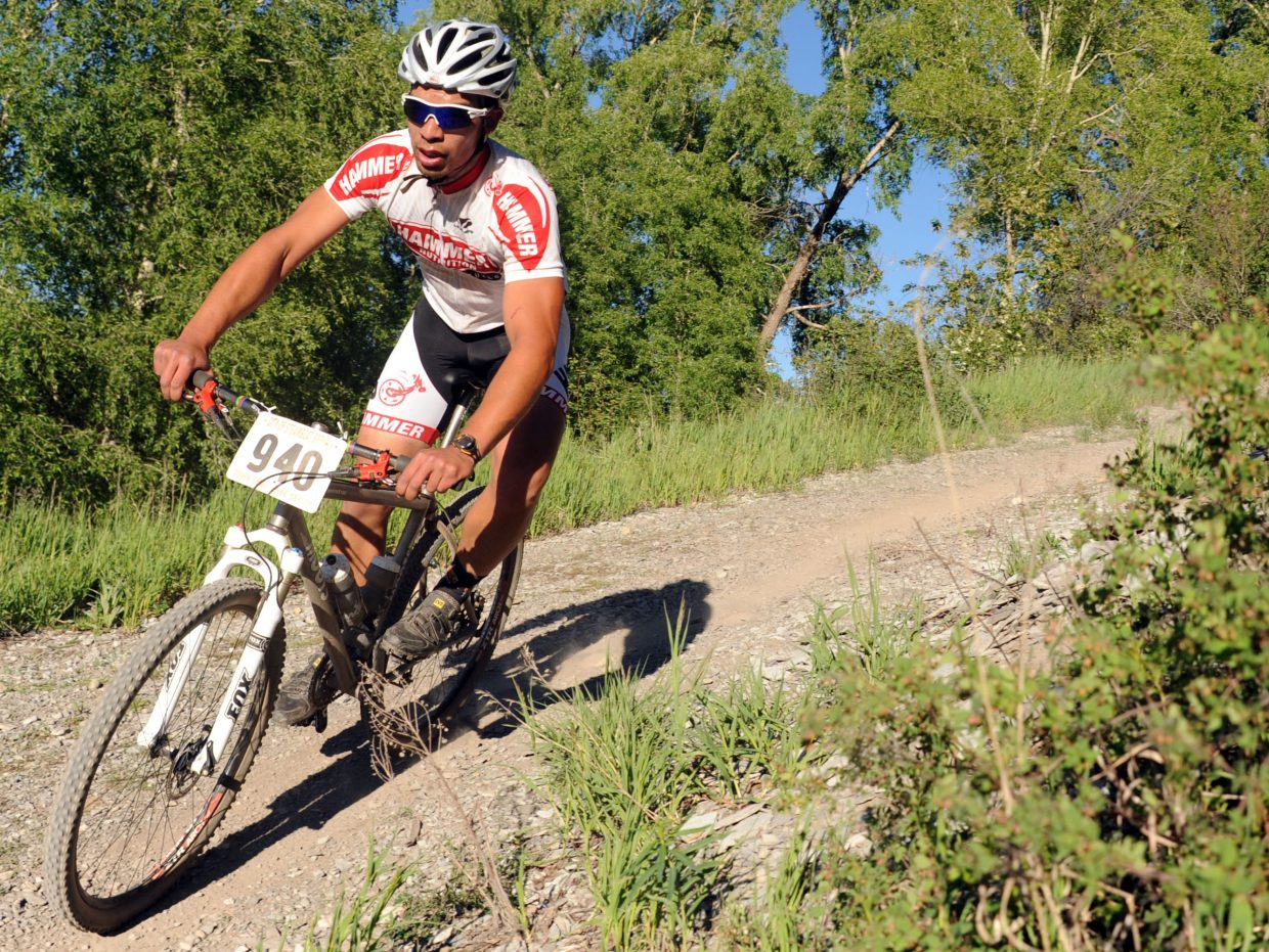 Bryce Daviess rides Wednesday in a Town Challenge race at Marabou.