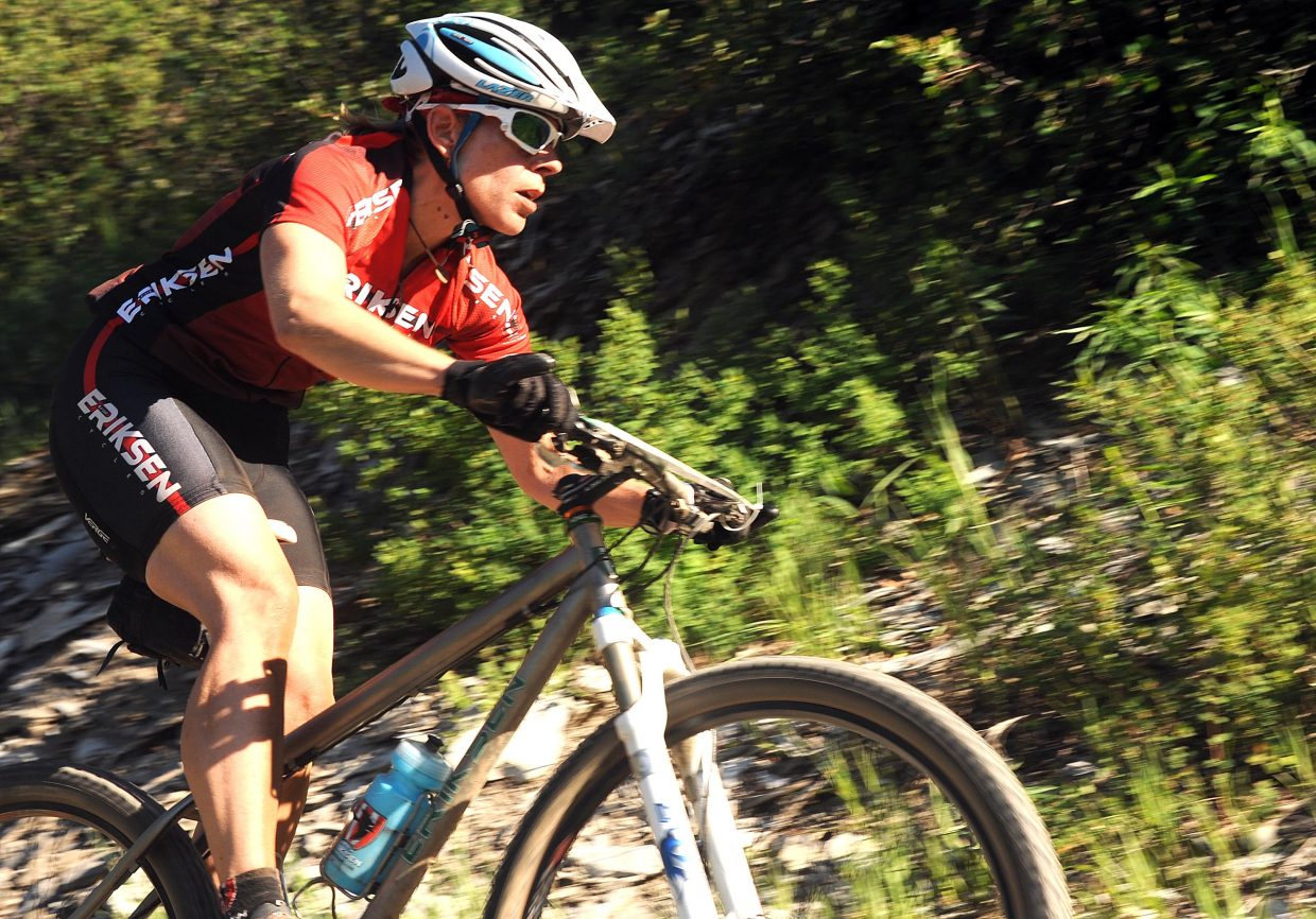 Katie Lindquist rides Wednesday in a Town Challenge race at Marabou.