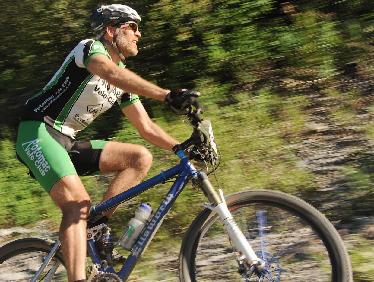 Scott Kempers rides Wednesday in a Town Challenge race at Marabou.