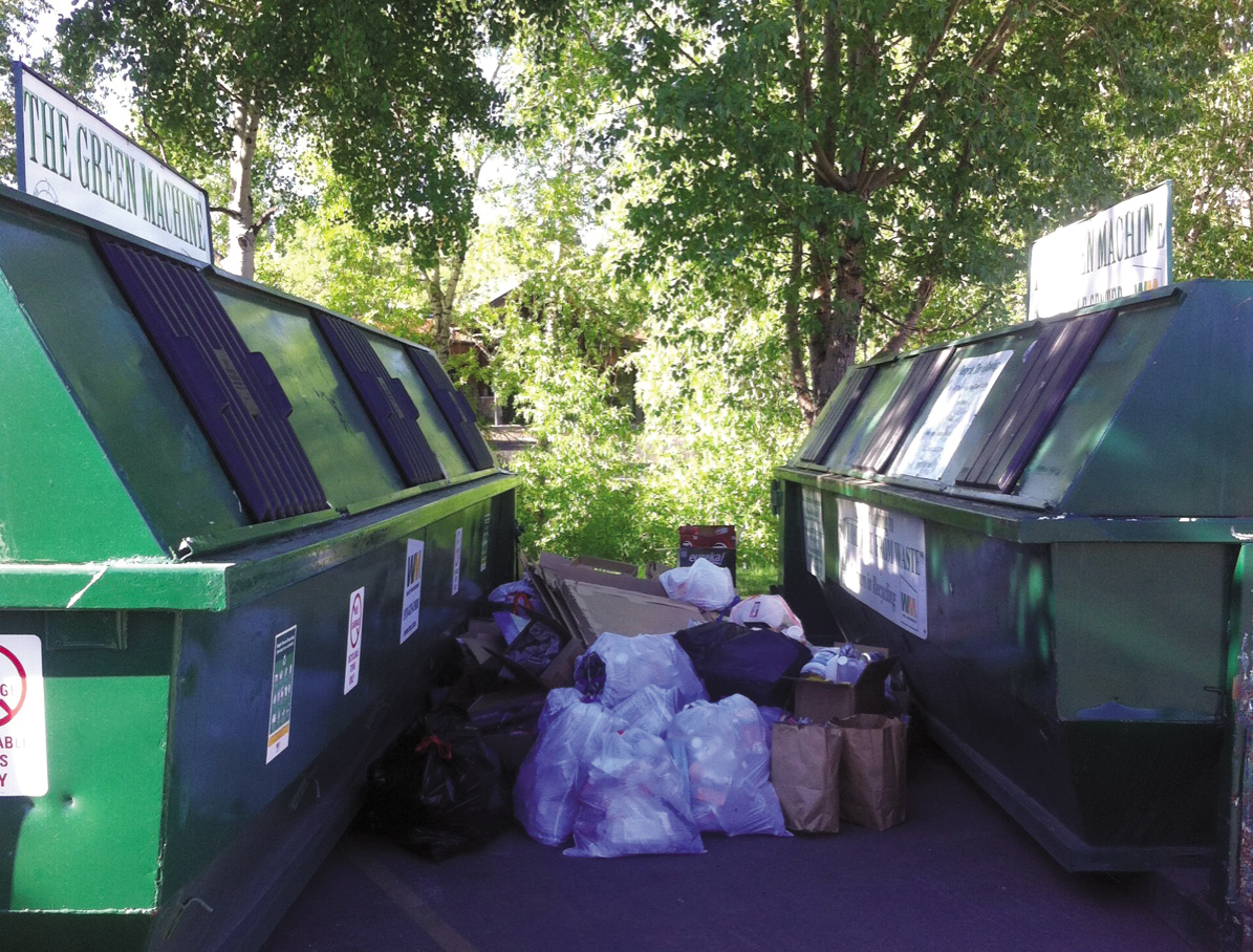 The Green Machine, intended for residential use where recycling is not available, was inaugurated in 2007 as part of a partnership with Waste Management and Yampa Valley Recycles. Funding to service the machines comes from Routt County Environmental Health and fees charged for dumping trash at the landfill.