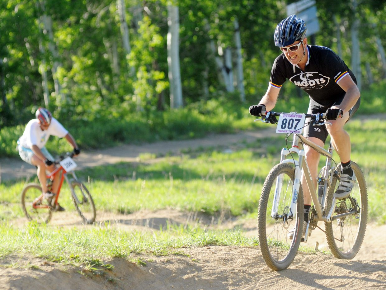 Matt Alford works his way up on the final sections Wednesday during the Town Challenge race at Mount Werner.