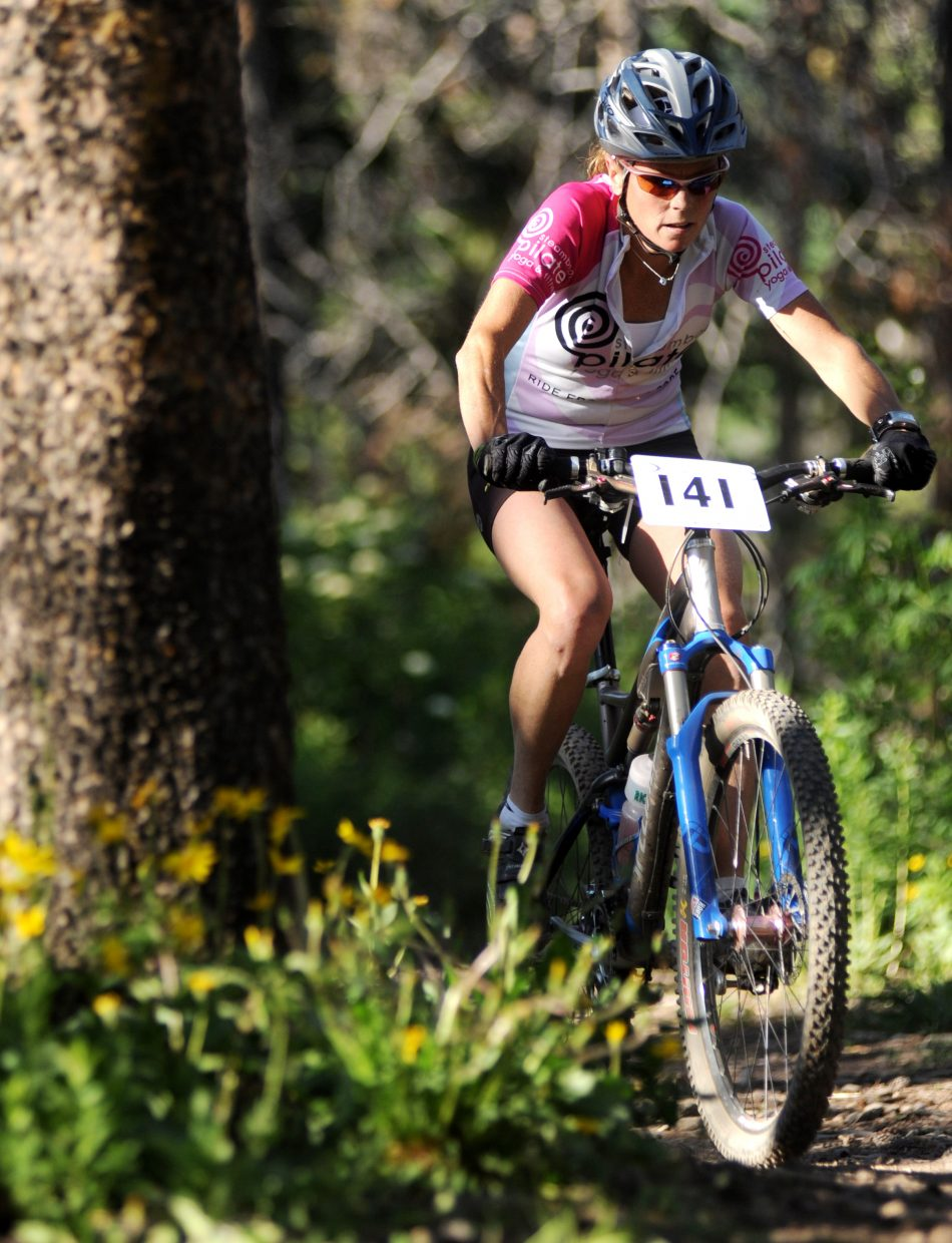 Kate Rench rides Wednesday in the Town Challenge race in Steamboat Springs.