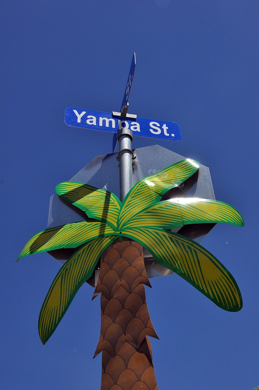 Yampa Street took on a beach-like atmosphere Sunday for the inaugural Yampa Street Live event. Next month's addition will take on a dog theme.