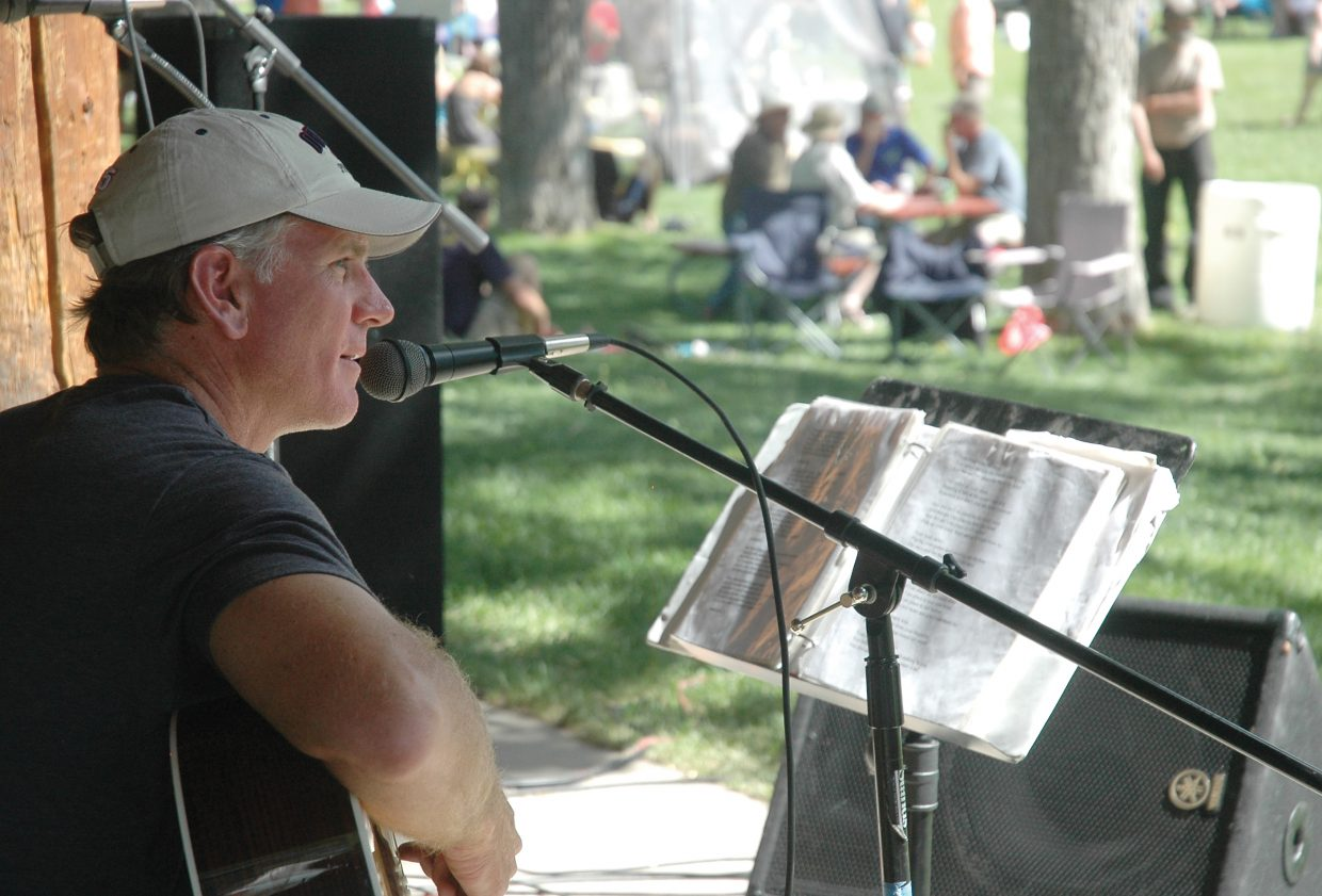 Local musician Todd Musselman played to the crowds at the annual Taste of South Routt festival on Saturday in Oak Creek.