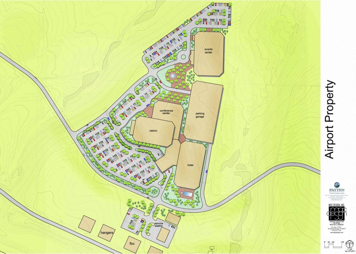 Proposed site plan for casino development near Yampa Valley Regional Airport.