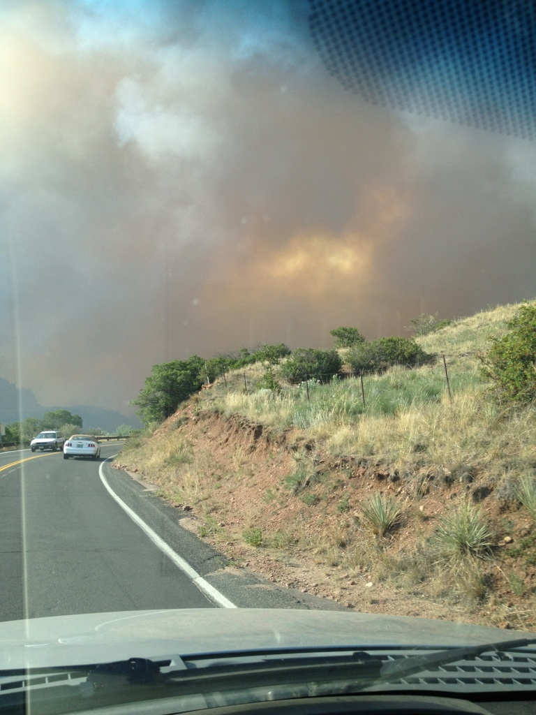 Josh Davies took this picture of the Waldo Canyon Fire on Tuesday. Davies, a 2002 Steamboat Springs High School graduate, evacuated the area Tuesday night. His house is around the corner and over the hill on the right.