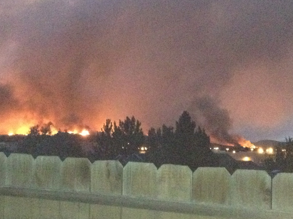 The view from Josh Davies' back deck. Davies, a 2002 Steamboat Springs High School graduate, was evacuated from the Waldo Canyon Fire in Colorado Springs on Tuesday.