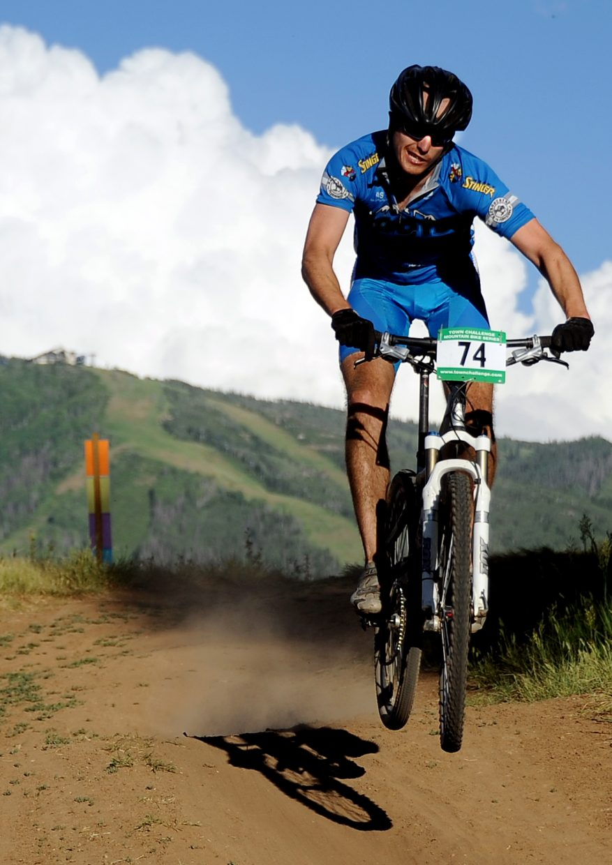 Tim Nylen rides Wednesday in the Town Challenge race in Steamboat Springs.