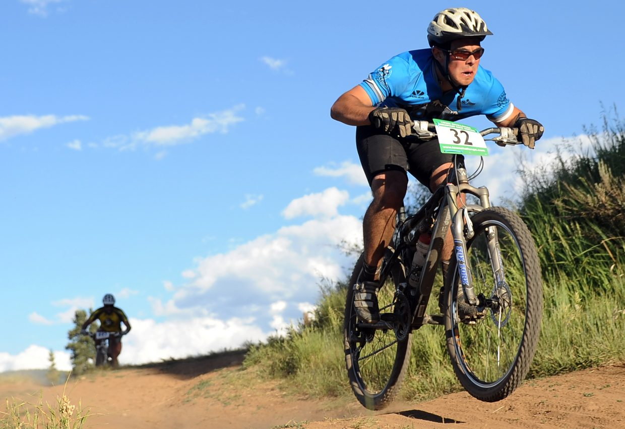 Jon Winkelblech rides Wednesday in the Town Challenge race in Steamboat Springs.