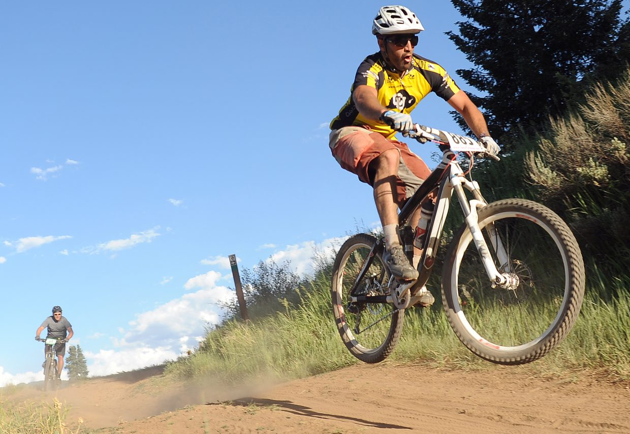 Gerry Verdoner rides Wednesday in the Town Challenge race in Steamboat Springs.