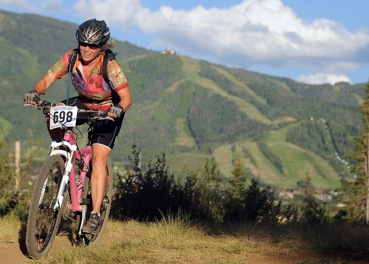 Mary Ann Keiss rides Wednesday in the Town Challenge race in Steamboat Springs.