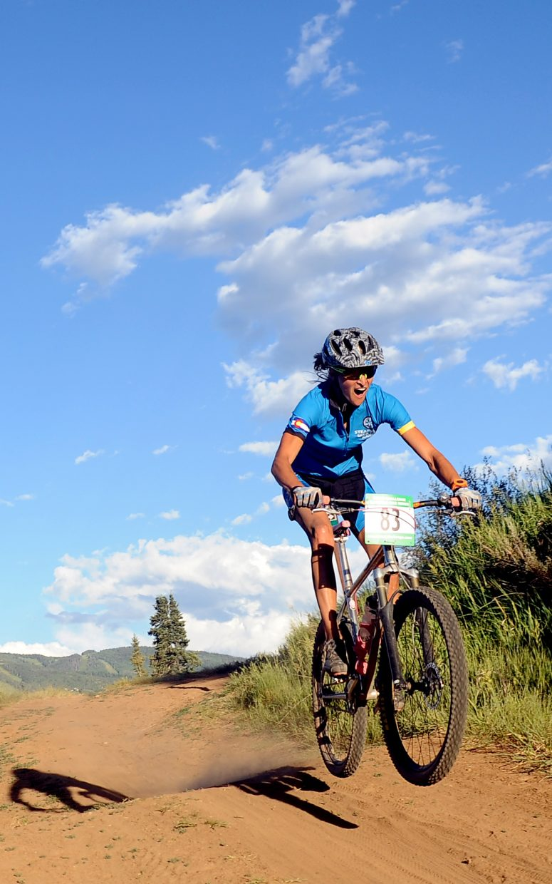 Marla Bailey rides Wednesday in the Town Challenge race in Steamboat Springs.