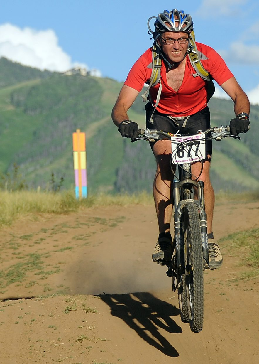 Stephan Zittel rides Wednesday in the Town Challenge race in Steamboat Springs.