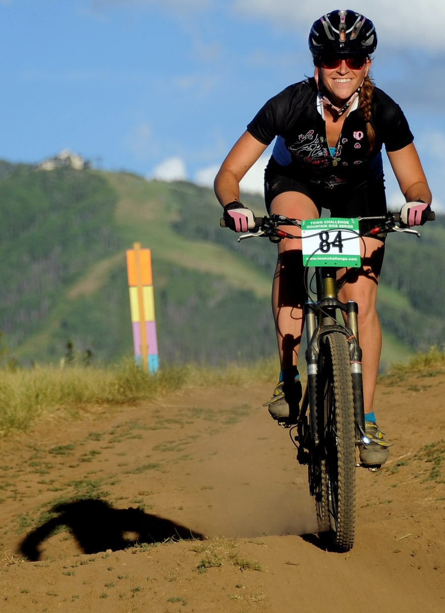 Halea Kaplan rides Wednesday in the Town Challenge race in Steamboat Springs.
