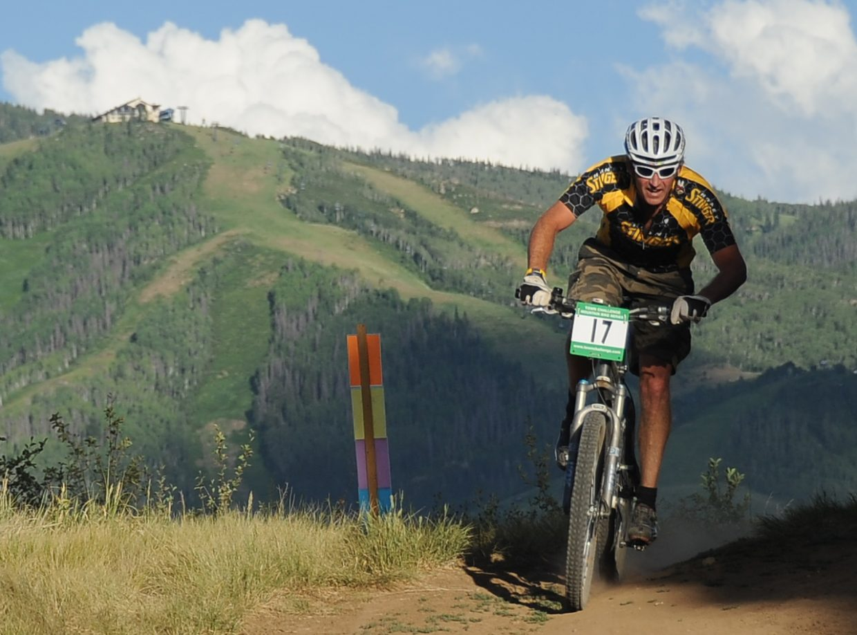 PJ Wharton rides Wednesday in the Town Challenge race in Steamboat Springs.