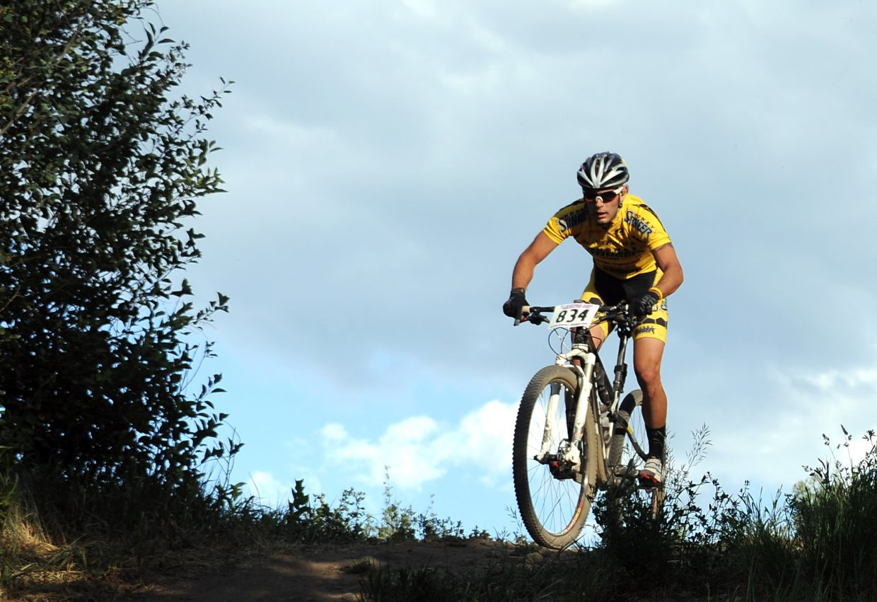 Trevor Walz rides Wednesday in the Town Challenge race in Steamboat Springs.