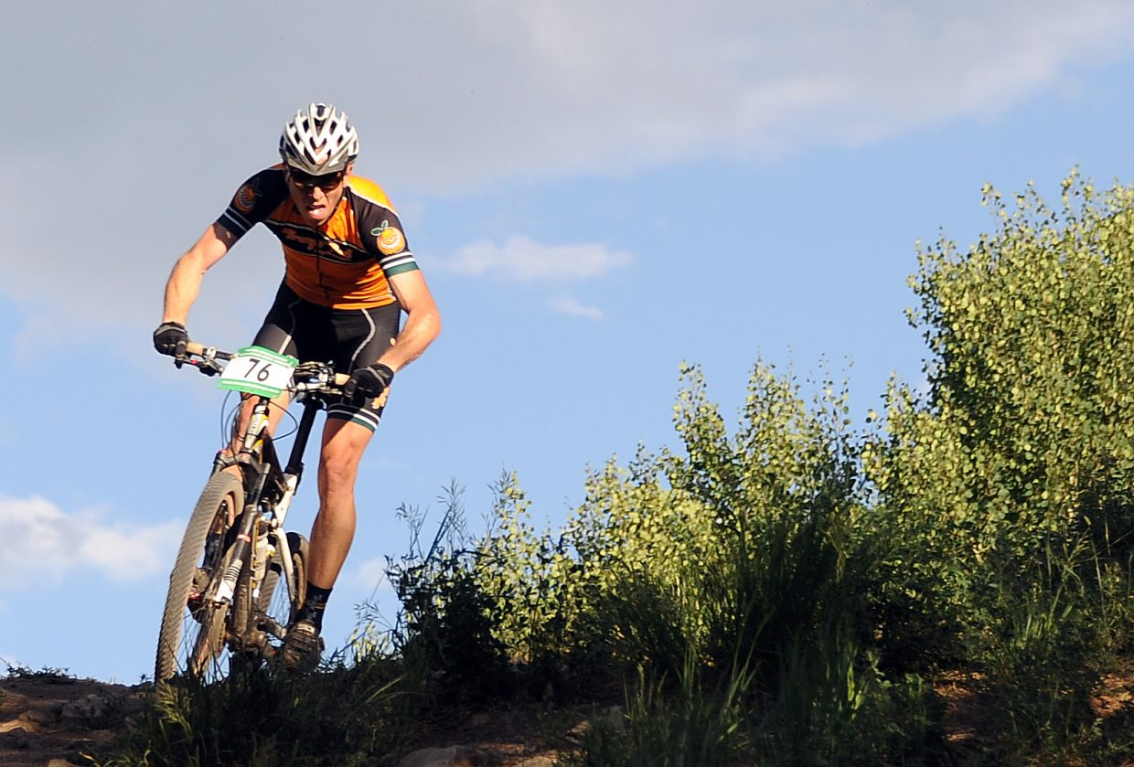 Barkley Robinson rides Wednesday in the Town Challenge race in Steamboat Springs.