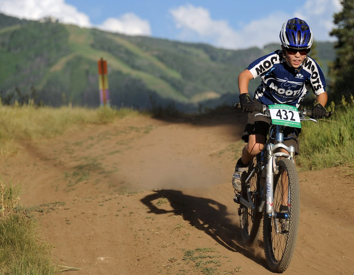 Trey Seymour rides Wednesday in the Town Challenge race in Steamboat Springs.