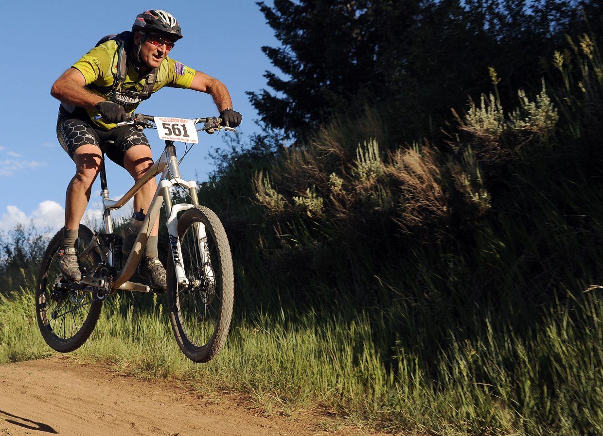 Chris Arnis rides Wednesday in the Town Challenge race in Steamboat Springs.