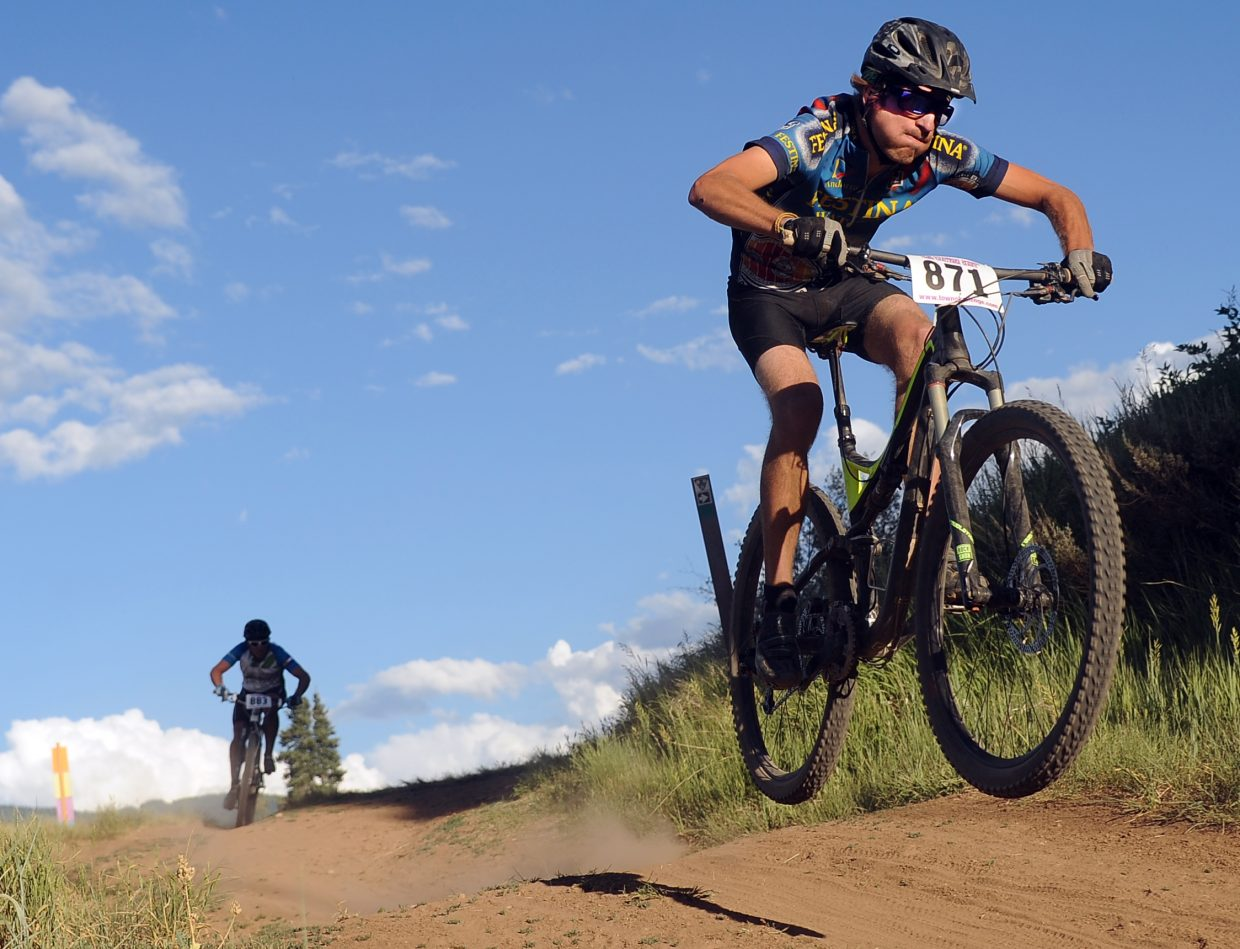 Brian Morgan rides Wednesday in the Town Challenge race in Steamboat Springs.