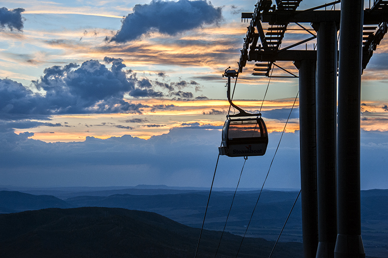 Sunset Happy Hour at the top of the Steamboat Ski Area gondola, 5 to 7:30 p.m.: Featuring Off the Chain. Load the gondola from 5 to 7:30 p.m. and enjoy live music and valley views at the top of Thunderhead. FREE for season pass holders or $12 ticket includes $5 off food or drinks. 970-871-5150. 2300 Mount Werner Circle.