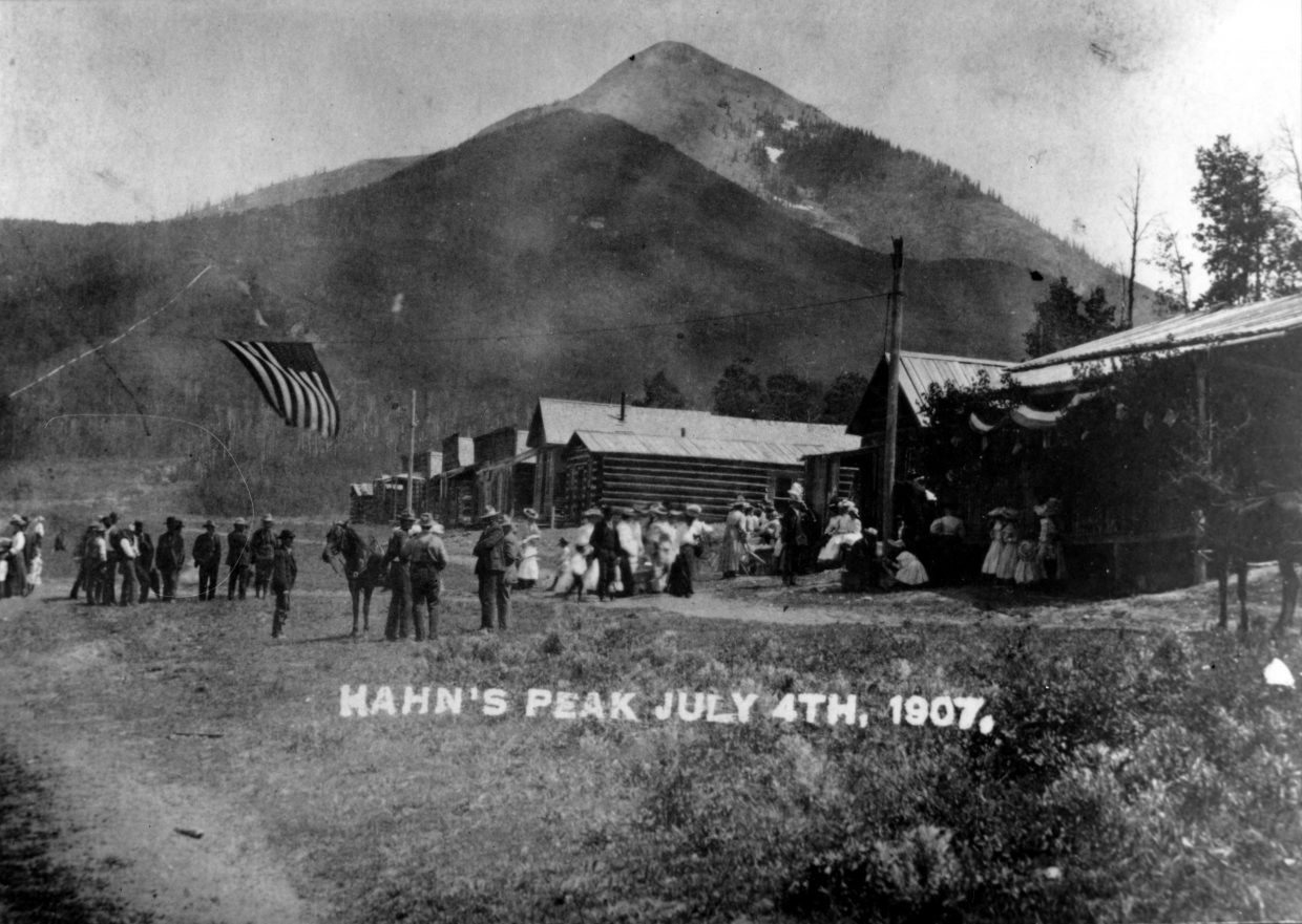 Hahn's Peak celebrates Independence Day in 1907.