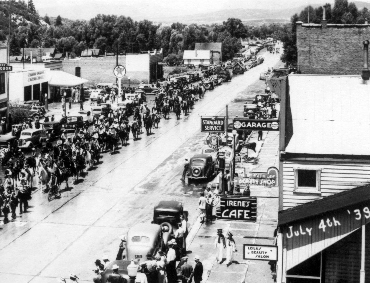 Independence Day in 1939 in Steamboat Springs.