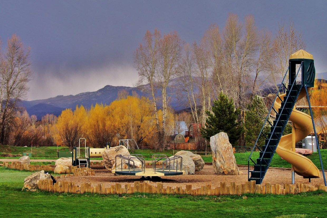 Emerald Park just before the storm Wednesday. Submitted by: Matt Helm