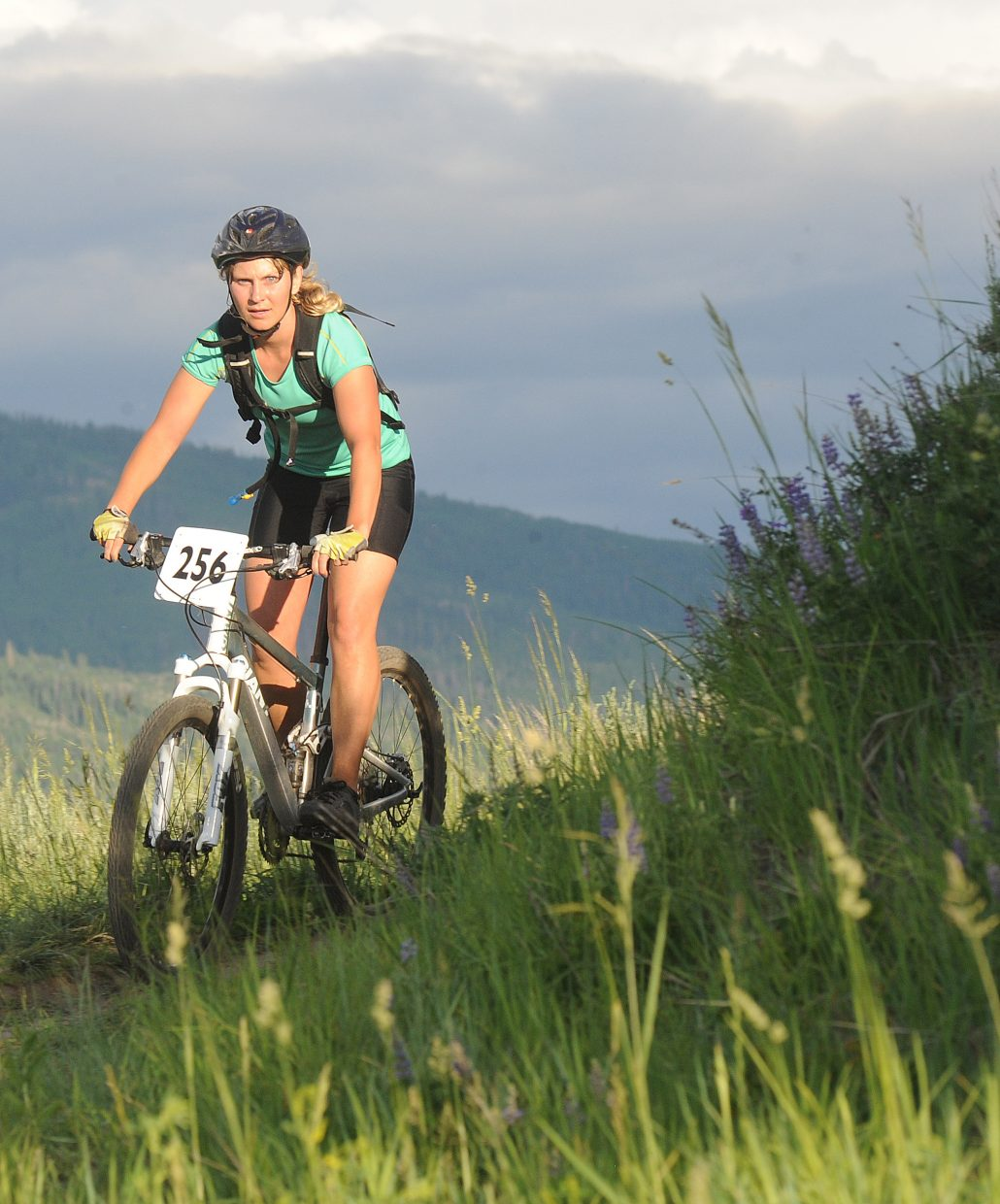 Helen Brown pulls around a corner on Wednesday in the Town Challenge race in Steamboat Springs.