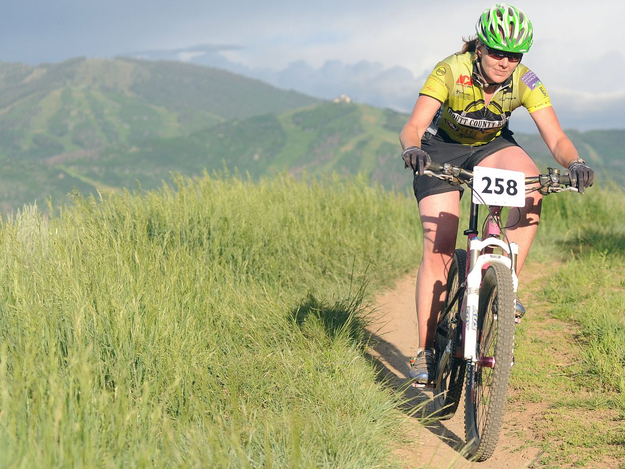 Bec Bale rides on Wednesday in the Town Challenge race in Steamboat Springs.