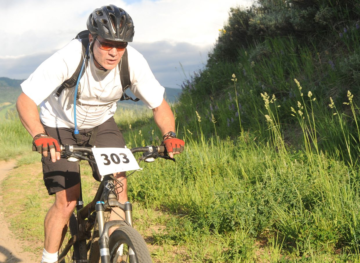Mike Aljanich rides Wednesday in the Town Challenge race in Steamboat Springs.