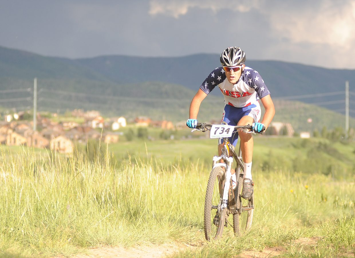 Kevin Kane rides Wednesday in the Town Challenge series in Steamboat Springs.