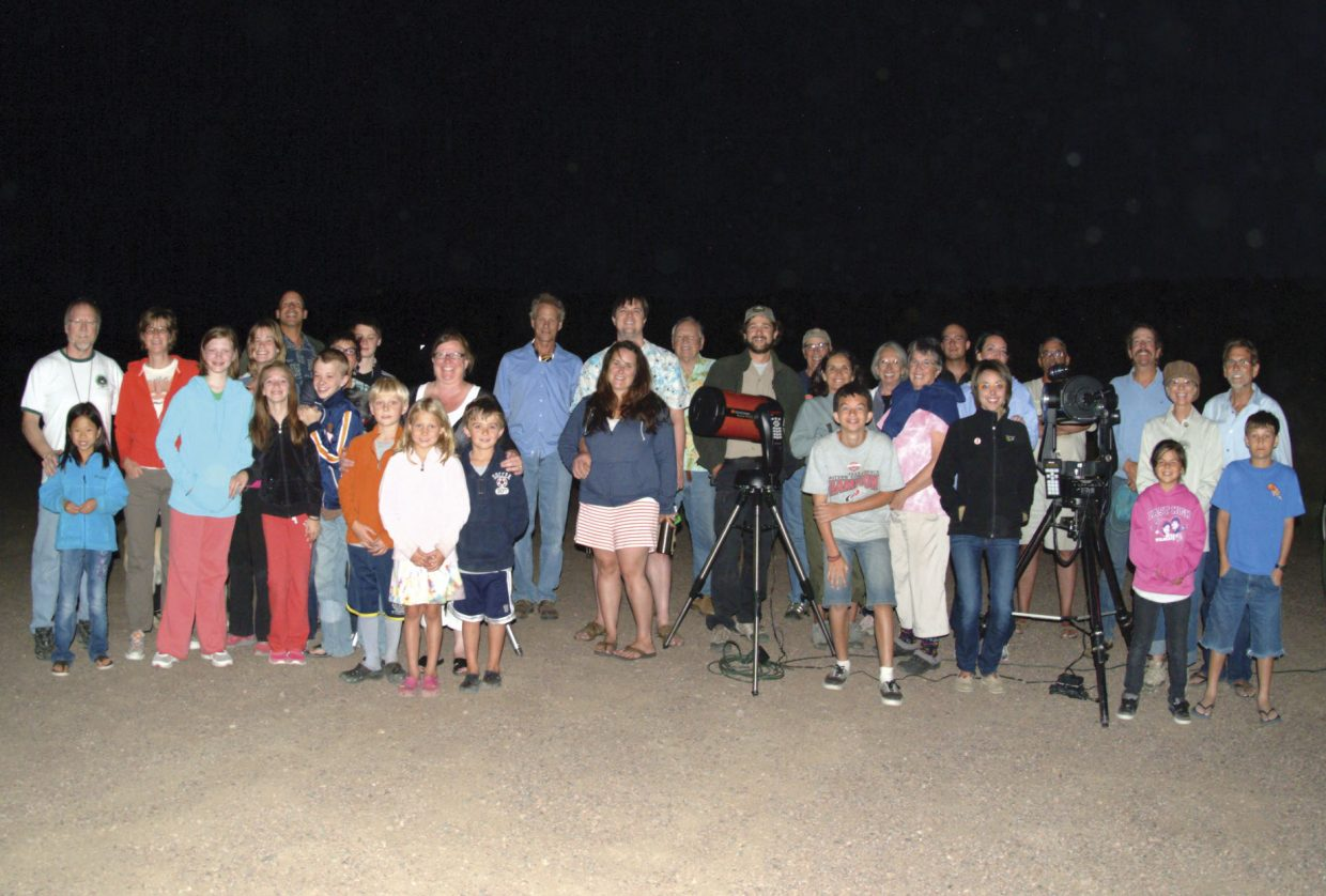 "About 65 astronomy enthusiasts of all ages joined Colorado Mountain College astronomy professor Jimmy Westlake and Stagecoach State Park seasonal interpreter Andrew Henry on Friday night for the inaugural ""Stagecoach Star Party"" at Stagecoach State Park. Visitors got to view the moon, Mars and Saturn through a variety of different telescopes."