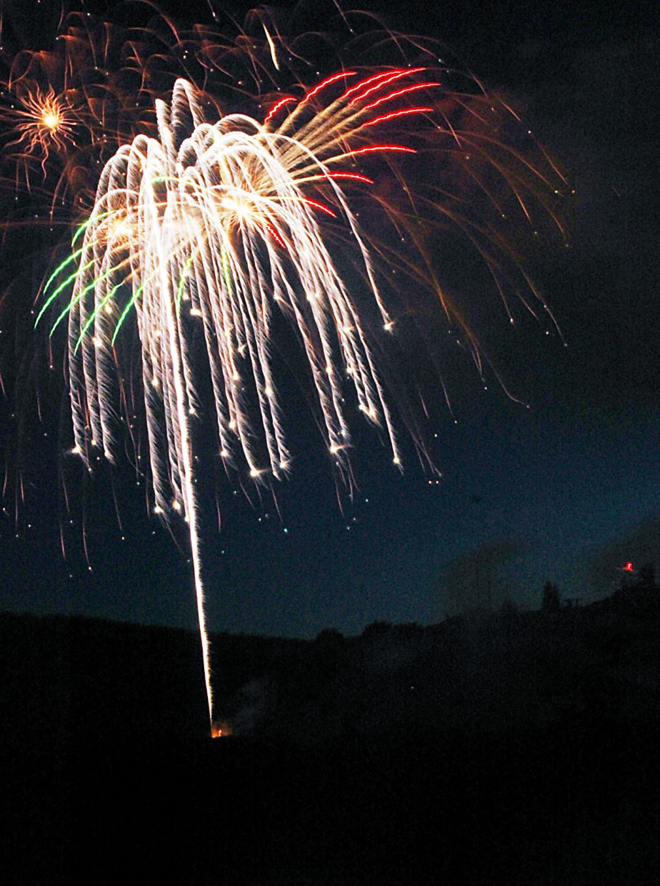 Fireworks show at Howelsen Hill, 9 p.m.: FREE. (Photo: Fireworks light up the sky in 2009 in Steamboat Springs.)