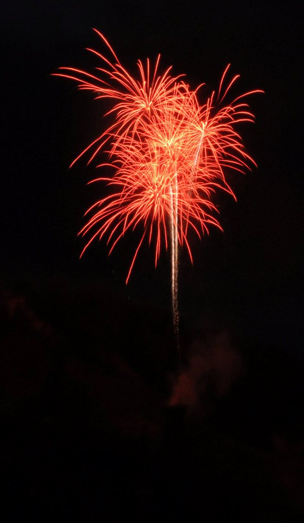 Fourth of July fireworks were set off in downtown Steamboat Springs on Monday.