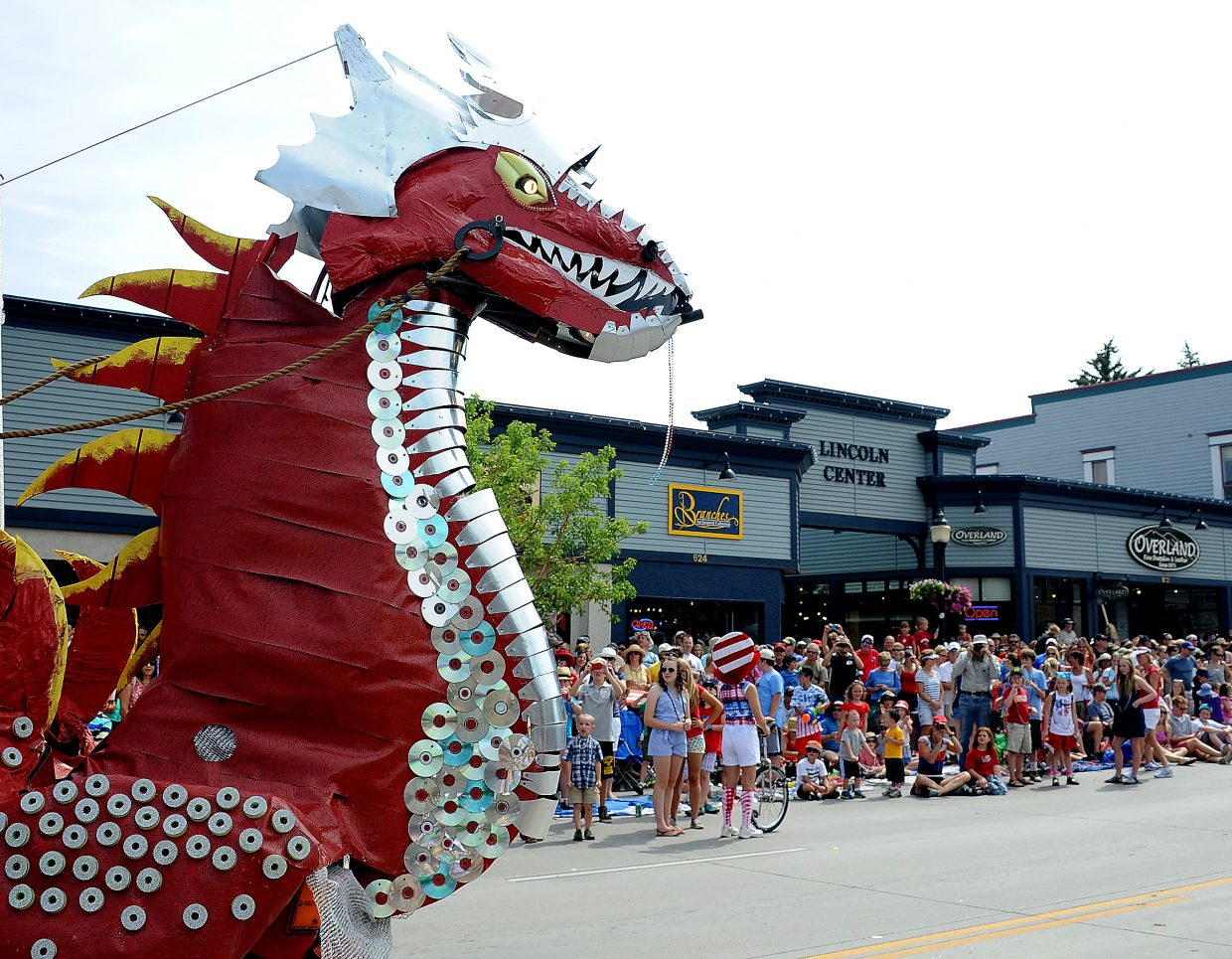 The no-fire-breathing regulation didn't keep the dragons from Wednesday's Fourth of July parade in downtown Steamboat Springs.